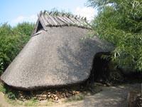 eine Dorfhütte