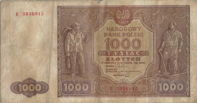 Banknoty, Polska (1946)