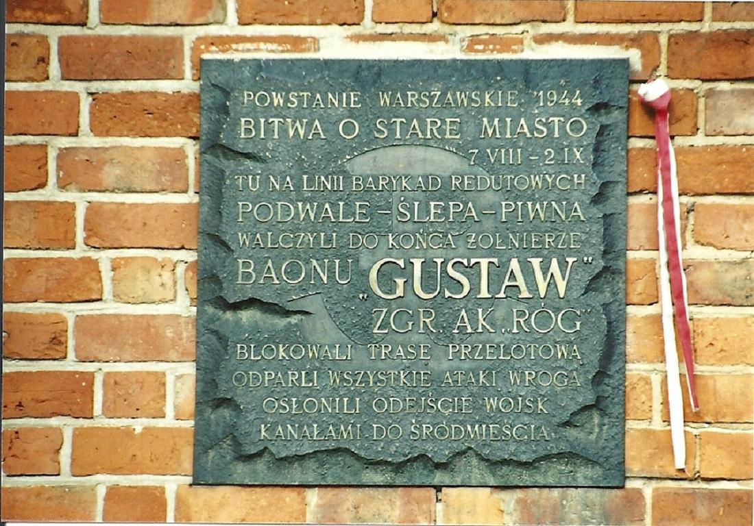 Tablica pamiatkowa baonu Gustaw
