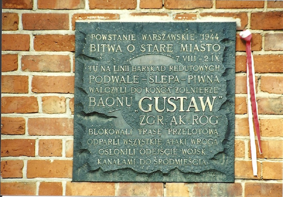 Gedenktafel Bataillon Gustaw